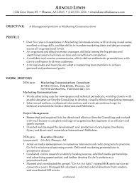 Marketing Job Resume Examples Combination Resume Sample Marketing Communications Manager