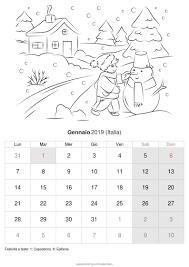 Calendario Gennaio 2019 Da Stampare Italia