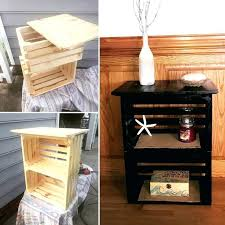 diy wood nightstand new best pallet furniture images on of awesome crate diy wood nightstand