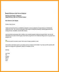 reference letter sample for employment template of recommendation letter for employee sample application