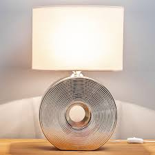 Tafellamp Bendan Plafondventilator Met Lamp Zilver Lampen24 Nl