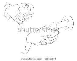 open door pencil drawing. Hands Open The Door, Black And White Pencil Drawing Door O