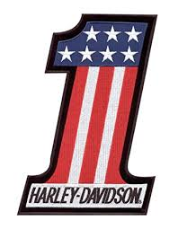 amazon com harley davidson 1 red white and blue embroidered