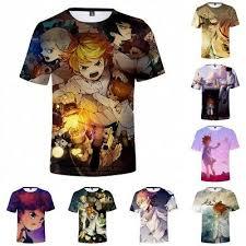 Anime <b>The Promised Neverland</b> Unisex T-shirt Cosplay <b>3D</b> Print Top ...