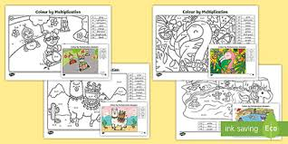 Our free multiplication colouring worksheets print on a4 and includes an answer sheet for quick and easy marking. Printable Maths Colouring Multiplication Sheets