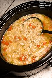 slow cooker en and rice soup