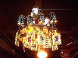 whiskey bottle chandelier whisky kit