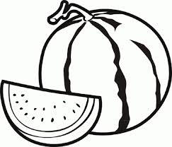 Small Picture Watermelon Coloring Page Fruit Pages For Kids Throughout glumme