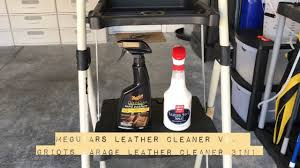 meguiars leather cleaner vs griots garage leather cleaner 3in1
