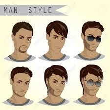 男のヘアスタイルを設定ベクトル イラストのイラスト素材ベクタ