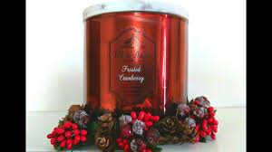 frosted cranberry candle bath and body works