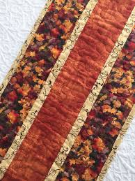 185 best Fall Quilts and Patterns images on Pinterest   Stitching ... & Fall Thanksgiving Table Runner Quilt, Leaves Topper, Fall Autumn Quilt,  Orange, Brown Adamdwight.com