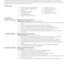Laborer Resume Examples Sample General Resume General Laborer Resume ...