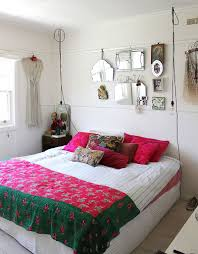 vintage chic bedroom furniture. Wire Pendant Lights, Bright Accent Pillows And Colorful Bedding Shape The Shabby Chic Bedroom [ Vintage Furniture .