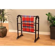 megahome contemporary wooden coat rack quilt rack in espresso
