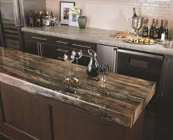 natural pattern countertop for rustic kitchens