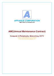 Air Conditioner Amc Agreement Format Amc Proposal
