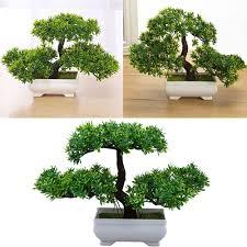 bonsai tree for office. Mini Artificial Pine Bonsai Tree Flower Pot Plant Home Garden Office Table Decor For I