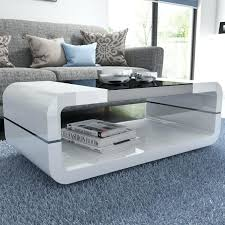 white coffee tables. White Coffee Table High Gloss Curved With Black Glass Top Range Tables O