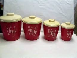 vintage kitchen canisters cols plastic s canister set retro red antique ceramic blue and white orange