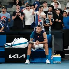 Kyrgios repeatedly complained about a technical glitch that resulted in a series of his serves being called lets. 4qryw33ri5hlim