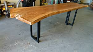Redwood Slab Dining Table American Elm Live Edge Dining Table