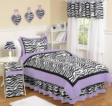 purple funky zebra childrens bedding 4 pc twin set