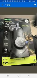 Ge Outdoor Dual Outlet Light Sensing Timer 15112 Ge Heavy Duty Outdoor Light Sensing Timer Black 36249 New