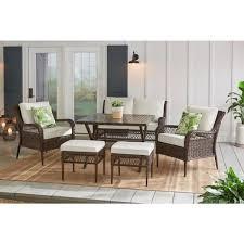 piece wicker patio conversation set