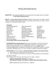 Template Realtor Resume Objective Real Estate Administrator Sample