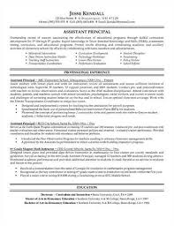 Sample Assistant Principal Resume