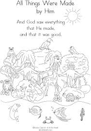 Creation Preschool Ideas Sunday School Coloring Pages Creation