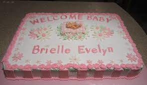 Wel e Baby 1 2 sheet cake celebrating the arrival of a