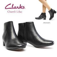 Kulaki Ladys Boots 344g Genuine Leather Leather Black Clarks Chartli Lilac Short Black