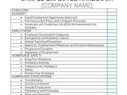 Free Employees Handbook Free Employee Handbook Template For Templates Company Employees