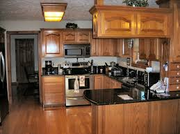 what color hardwood floor with oak cabinets for warm feeling dark kitchen cabinets with light wood
