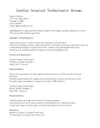Resume For Surgical Technologist Surgical Tech Resume Templates