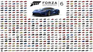 forza motorsport 6 car list