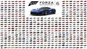 forza motorsport 6 car list