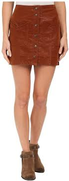 brown leather on skirts free people come a little closer faux leather skirt