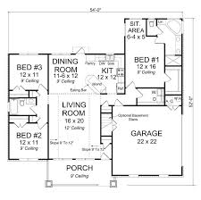 3 bed 1 bath house plans 3 bedroom 2 bath craftsman with master sitting area and