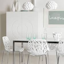 fancy modern white dining room chairs and dining room the modern white chairs about designs best