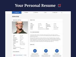 Personal Resume Website Personal Resume And CV WordPress Themes For 100 WP Daddy 4