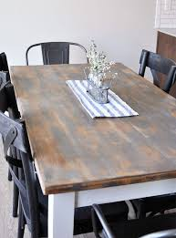 How To Finish A Kitchen Table Top