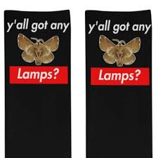 Amazoncom Moth Lamp Meme Socks Yall Got Any Lamps Moth Socks