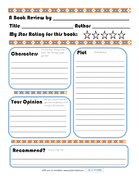 Book Report Template Free Elementary Book Report Template on Book Report Worksheet Printable 1