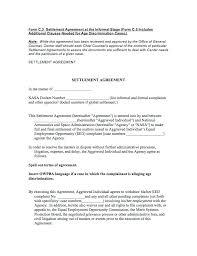 Settlement Agreement Sample Mediation Template – Therunapp