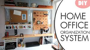 Diy office organization Office Storage Diy Desk Organization System W Hutch Youtube Diy Desk Organization System W Hutch Youtube