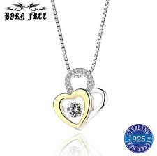 925 sterling silver heart pendant choker pendants jewelry making femme mujer pendulo colgantes kolye pendant necklace