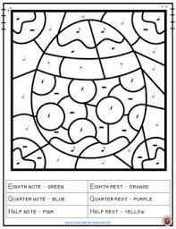 Easter Music Coloring Sheets 26 Music Notes And Rests Coloring